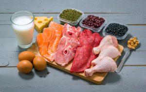 Différentes protéines sont présentées sur un plat