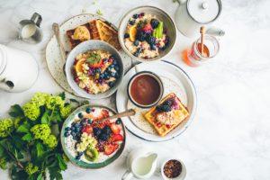 repas contenant beaucoup de glucides de toutes sortes