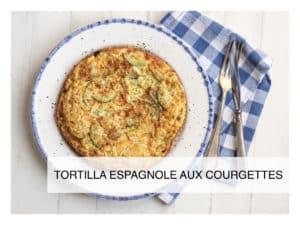 tortilla avec des courgettes , oignons et oeufs